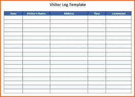 Visitors Log In Sheet Visitors Log Template Threeroses Us