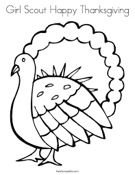 Small Picture Girl Scout Happy Thanksgiving Coloring Page Twisty Noodle