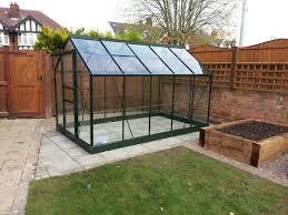 6x10 green halls popular greenhouse toughened glass 569