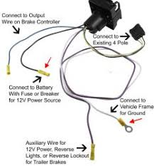 trailer wiring harness adapter to convert 4 pole to 7 way to allow click to enlarge