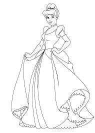 Disney Princess Coloring Pages Cinderella For Kids Printable Free