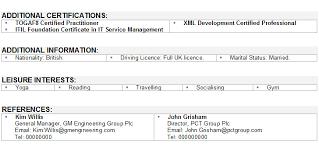 information technology cv sampleorder the above information technology cv template now