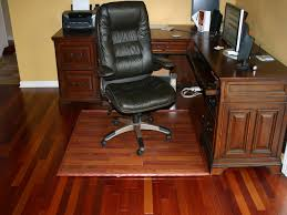 office mats for chairs. Wood Office Floor Mats Under Black Leather Wheeled Chair And Laminate Also L Shaped Table For Chairs