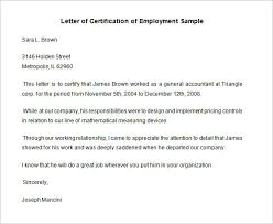 Standard Certification Letter Of Employment Sample With Paragraph