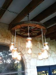 canning jar chandelier wagon wheel mason jar chandelier canning jar pendant lighting