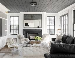 Interior Design Black And White Living Room Grey Ceilings Make This Black An White Living Room Cozy House