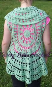 Crochet Circular Vest Pattern Free Beauteous Crochet Circle Sweater Pattern Crochet And Knit