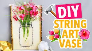 Diy String Art Diy String Art Mason Jar Vases Hgtv Handmade Youtube