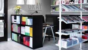 ikea office space. Ikea Business Desks Bookshelves Backed By Instead Of Cubicles Office Space S