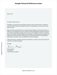 Character Reference Letter Template Personal Professional Word