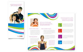 free microsoft word brochure templates tri fold personal trainer brochure template design stocklayouts annual