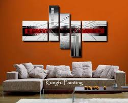 100 hand painted modern red black and white abstract art group oil painting unframed wall on wall art painting singapore with 2018 100 hand painted modern red black and white abstract art group