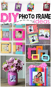diy bold paper frames via craftymorning
