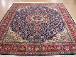 10 13 persian tabriz hand knotted wool traditional navy red large traditional rugs