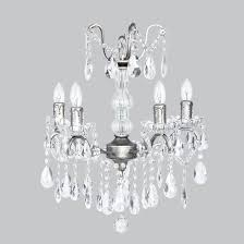 shabby chic glass center pewter chandelier