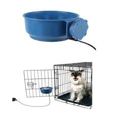 Image is loading Dog-Pet-Heated-Water-Dish-Electric-Heated-Drinking- Dog Pet Heated Water Dish Electric Drinking Bowl Winter