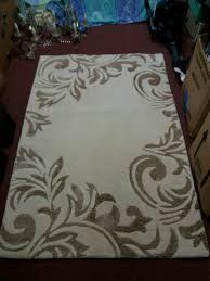rug real wool cream and taupe rug