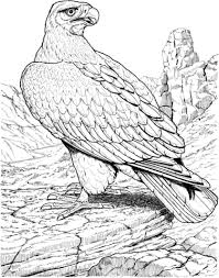 Small Picture Eagle Coloring page intarsia birds Pinterest Eagle