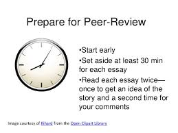 literacy narrative peer review