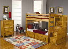Kids Bedroom Furniture Uk Furniture Brown Wooden Bunk Bed With Storage On The Stairs Also