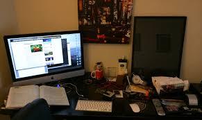 my office desk. desk clutter my office