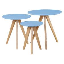 scandinavian retro furniture. on sale blue nest of tables scandinavian retro furniture