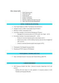 Presentation Skills Resume 3 Other Relevant Skills Presentation