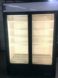 used refrigerator freezer used commercial refrigerator freezer combo glass door two door freezer display certified owned