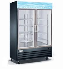 Amazon 55 refrigerator double glass door reach in commercial vortex refrigeration  commercial 2 glass door black