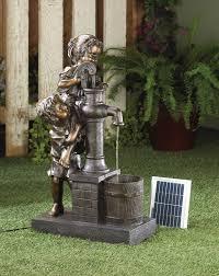 children garden statues. Wholesale Nostalgic Children At Well Water Pump Solar Power Garden Fountain Statues