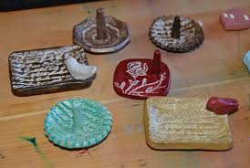air dry clay tiny houses and ring holders