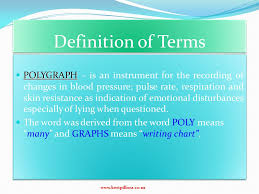 Polygraph Chart Definition Definition Of Terms Polygraph Polygraph Is An Instrument
