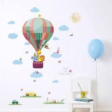 grass hot air balloon small animal