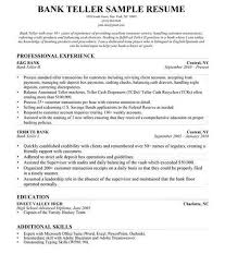 Sample Resume For A Bank Teller Pin By Job Resume On Job Resume Samples Resume Resume Templates