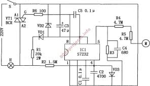 s7232 based touch dimmer circuit