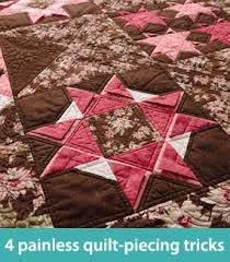 22 best Quilt tips images on Pinterest | Patchwork quilting ... & 4 painless quilt-piecing tricks Adamdwight.com