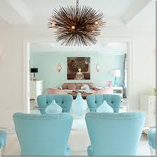 tufted furniture trend. this dining room mixes trendy velvet tufted furniture in pastel shades u2013 along with a sputnik trend t