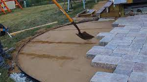 prepare and build paver patio with