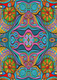 Trippy Pattern Mesmerizing Trippy Pattern Painting By Stephen Humphries