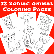 Help your children cherish their fall memories by coloring with them! 12 Free Printable Chinese Zodiac Coloring Pages Fun Crafts Kids