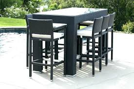 wood patio bar set. Patio Furniture Bar Set Stylish Modern Outdoor Sets Babmar Table Wood I