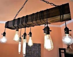 reclaimed wood chandelier farmhouse rustic barn
