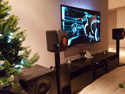 kef ls50 home theater. kef ls50s crossed over with an svs pb1000 subwoofer. tv is a 60\ kef ls50 home theater