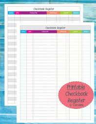 Free Printable Checkbook Register Templates … | Checkboo…
