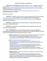 Month To Month Rental Agreement Template Free Printable Nebraska Month To Month Rental Agreement