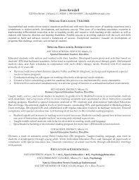Example Resume Teacher Special Education Teacher Resume Examples
