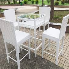 white rattan outdoor furniture high