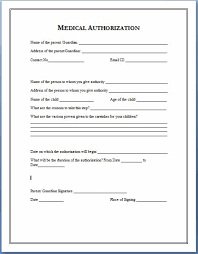 Printable Medical Release Form For Children Enchanting Sample Medical Authorization Form Templates Printable Medical