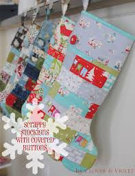 Scrappy Stockings with Covered Button {Tutorial} | Very Merry Moda ... & Scrappy Stockings with Covered Button {Tutorial} · Quilted Christmas ... Adamdwight.com