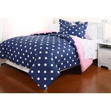 polka dot reversible bed in a bag bedding set com